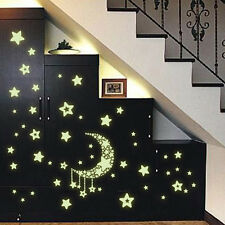 Creative Luminous Stars Moon Fluorescent PVC Wall Stickers Decor Mural Decal Hot