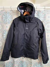 Pristine OAKLEY Black Snowboard/Ski Jacket S/P Regular Fit Hooded EUC Nice!