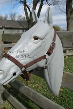 Lot of 4 Brown Nylon Full Horse Halter's w/Throat Latch One Price Free Shipping