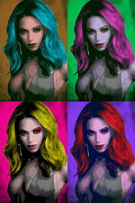 CELEBRITY singer BEYONCE multiple image POP ART POSTER high STYLE 24X36 hot
