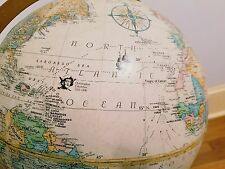 Globemaster Commander 12 Inch Floor World Globe Standing Antique Topographical