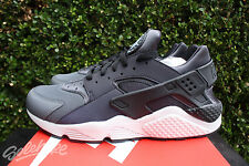 NIKE AIR HUARACHE RUN PREMIUM SZ 13 DARK GREY BLACK REFLECTIVE PRM 704830 007