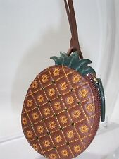 Etienne Aigner Small Pineapple Shaped Coin Purse Optional Key Holder
