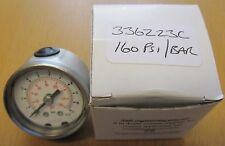 "40mm 0-160PSI 1/8"" NPT Stainless Steel Pressure Gauge 336Z23C"