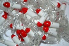 """1.5"""" CRAPPIE PANFISH PERCH BREAM BASS TUBE GRUBS LURE 50 LOT RED/WHITE/CLEAR"""