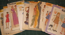 Vintage Lot of 12 Vintage 70's Sewing Patterns Simplicity, McCalls, Butterick