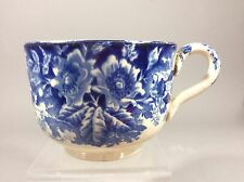 Antique Staffordshire flow blue Transferware Large Soup Cup 19c