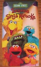 Sesame Street SESAME SINGS KARAOKE VHS VIDEO