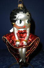 Polonaise Glass Ornament: Betty Boop- Red & Gold Dress, GP624, New in Box