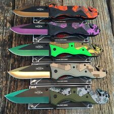 5PC Dealers Lot NEW Assorted Spring Assisted Open TACTICAL Pocket Knife Combat