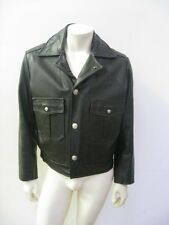 Taylor's Leatherwear Dean's Crew Black Leather Police Motorcycle Jacket Size 38