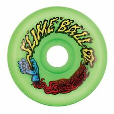 Santa Cruz SLIME BALLS VOMITS Skateboard Wheels 60mm 97a GREEN