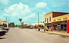 Frostproof FL Street View Store Fronts Tom's 5 & !0 cent Store Old Cars Postcard