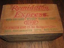 antique Remington Express wooden box_small arms ammunition box_dovetailed