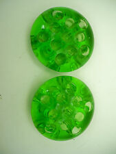 Vintage Vaseline Green Depression Glass Flower Frogs Unknown Maker