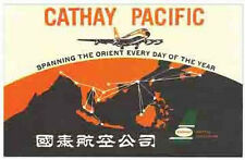 Cathay Pacific Airlines (Orient)   Vintage-Looking  Sticker/Decal/Luggage Label