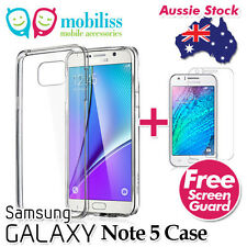 Clear TPU Gel Jelly Case Cover for Samsung Galaxy Note 5 Free Screen Protector