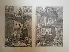 Planche gravure Jean le Pautre Deux chaises à précher 1659