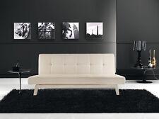 Divano letto sofa 180x80 bianco ecopelle reclinabile design moderno arredo|zol