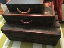 Louis Vuitton Suitcase Trunk Hardsided Stunning Decals Owner World Wide Traveler
