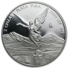 2009 2 oz Proof Silver Mexican Libertad Coin - SKU #56130