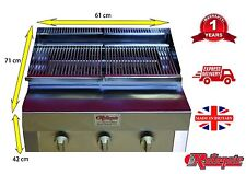 3 BURNER FLAME CHARCOAL GRILL WITH FULL GRIDDLE FOR CHICKEN BURGER / CHARGRILL