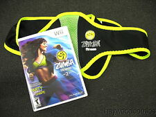 Nintendo Wii Game ZUMBA FITNESS 2 With Belt for Wii Remote