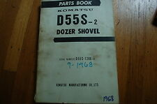 KOMATSU D55S-2 Tractor Dozer Crawler Illustrated Parts Manual book catalog spare