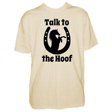 Mens Horse T Shirt - Talk To The Hoof - Equestrian Rider Lover - Pony Tshirt