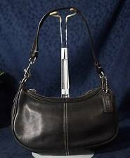Authentic COACH Black Leather Hampton Demi Hobo Bag #7593