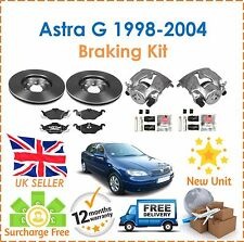 For Astra G 1998-2004 Front Brake Calipers + Slider Kits + Brake Discs & Pads