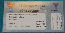 Ticket for collectors World Cup q * Faroe Islands - Ireland 2012 Tórshavn