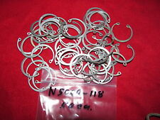 50 ea N 5000-118 Snap Rings from Grumman Aircraft Surplus Quality Carbon Steel