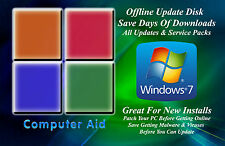 Windows XP, Vista, 7, 8, 8.1 & 10 32 & 64 Bit Updates Patch Disks 9 Total - DVD