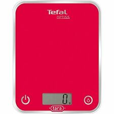 Tefal Optiss BC5003V0 Kitchen Scales 5kg/1g Glass Raspberry Pink