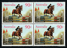 1986 Horses Show Jumping SG1012 Block of Four MUH Mint Stamps Australia
