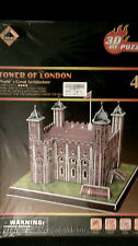 """Tower of London""New,3D Diorama Puzzle Model,18.1cm x 19.3cm x 16.8cm,40 Pcs."