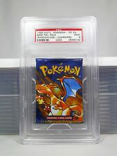 PSA 9 MINT 1st Edition Base Charizard Sealed Pokemon Foil Booster Pack