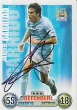MANCHSTER CITY JAVIER GARRIDO HAND SIGNED MATCH ATTAX TRADING CARD.