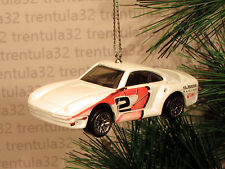 PORSCHE 959 WHITE RACE CAR RACING CHRISTMAS ORNAMENT XMAS