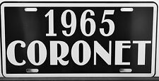 1965 CORONET METAL LICENSE PLATE DODGE CONVERTIBLE WAGON SEDAN 318 440 426 HEMI