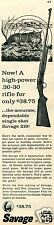 1960 Savage Stevens Model 219 30-30 Rifle Print Ad