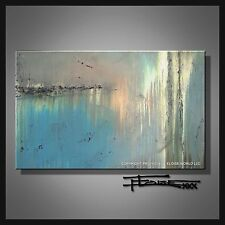 ABSTRACT CANVAS PAINTING MODERN WALL ART Listed by Artist Large Signed ELOISExxx