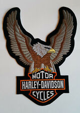 Harley Davidson Motorcycle Bikers Embroidered Sew/Iron On Patch Patches 21x28cm