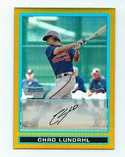 2009 Bowman Chrome Prospects Gold Refractors Chad Lundahl Card #BCP164  #  28/50