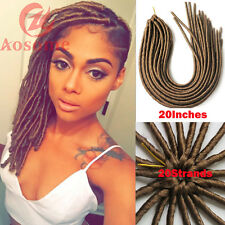"6Pack 20"" Soft Dread lock Hair Crochet Braids Dreadlock Synthetic Extensions"