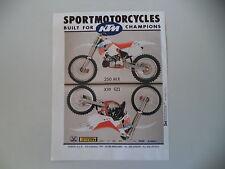 advertising Pubblicità 1990 MOTO KTM MX 250 / MX 125