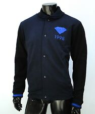 Diamond Supply co. Skate emblem 98 Fleece Varsity Navy mens Jacket size Medium