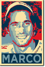 Marco Simoncelli ROI ART PHOTO PRINT POSTER CADEAU (OBAMA HOPE style)