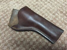 "Vintage S.D. MYRES Brown Leather 4"" OWB Revolver Holster Right Police Western"